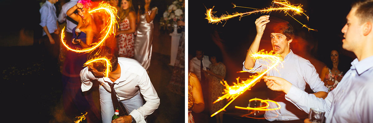 sparkler fights wedding photography