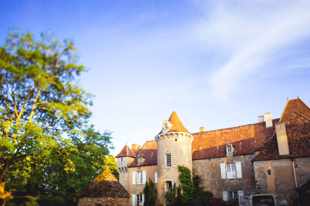 chateau cazenac wedding photographer dordogne