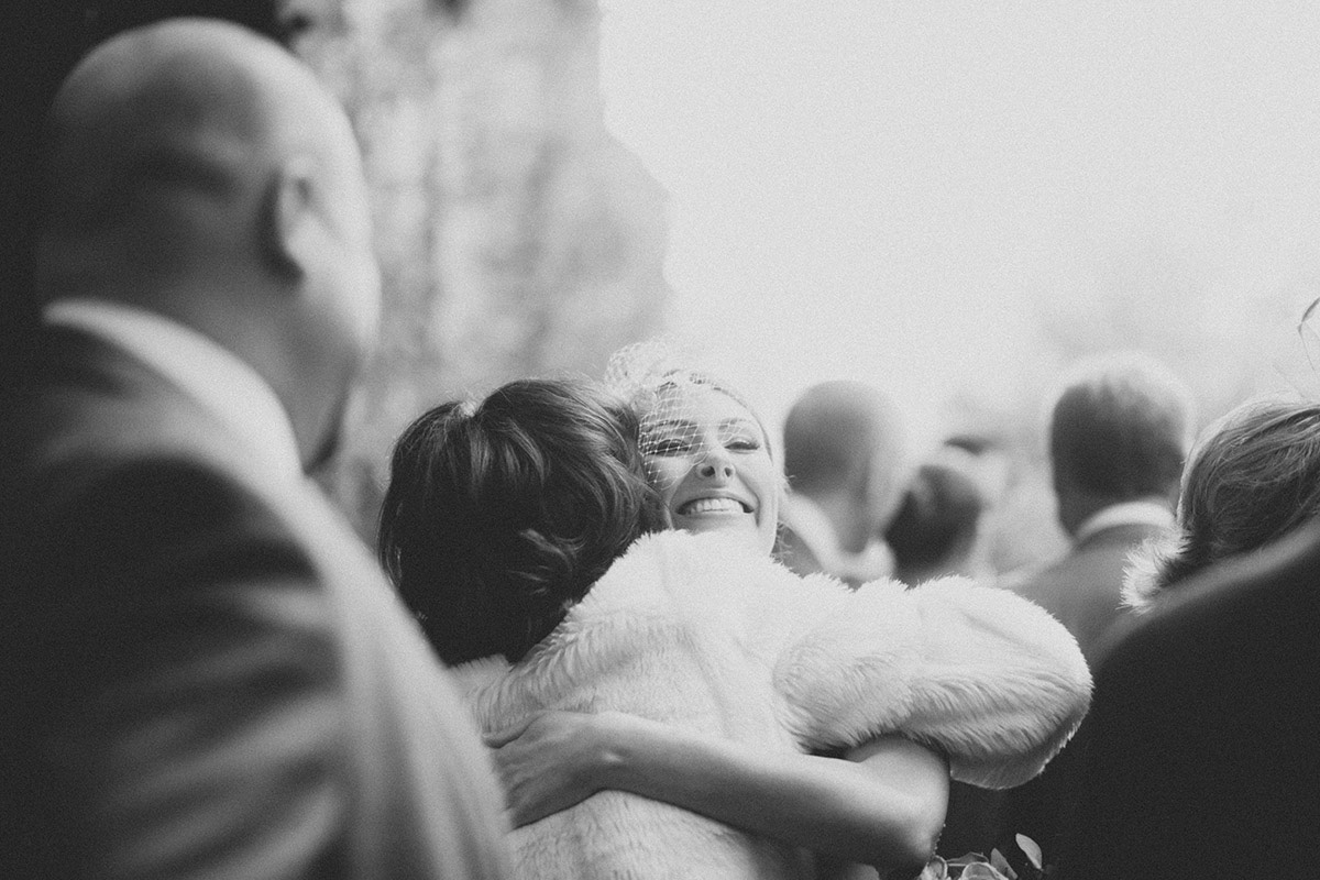 Bride Hug Hampton Manor Church Wedding Solihull