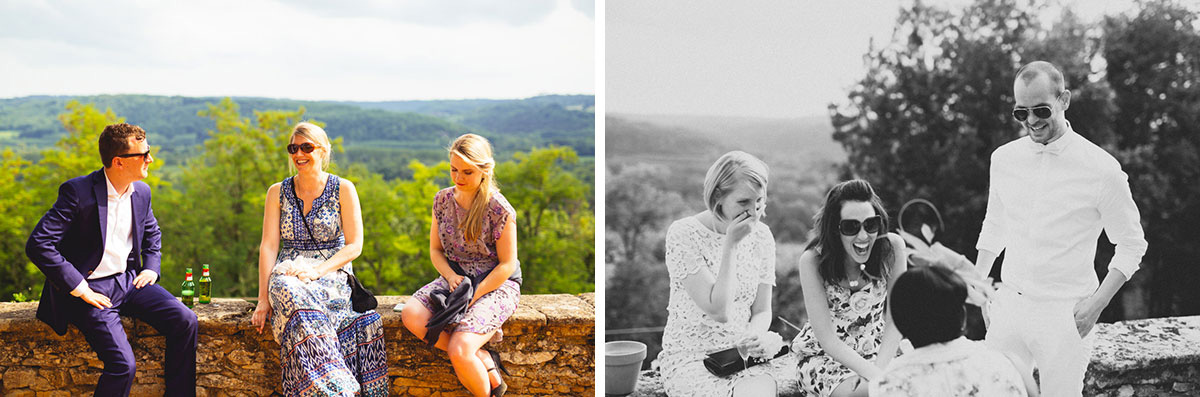 stunning outdoor wedding dordogne france