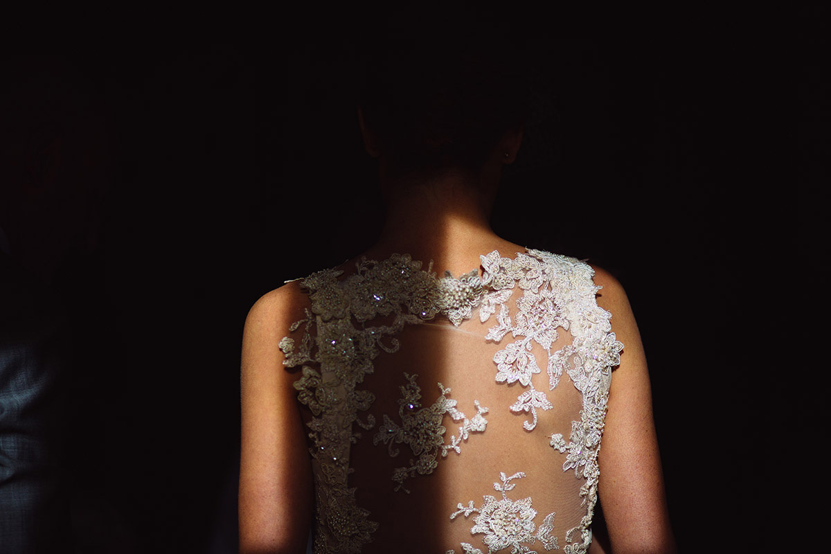 Bride Dress Back Detail