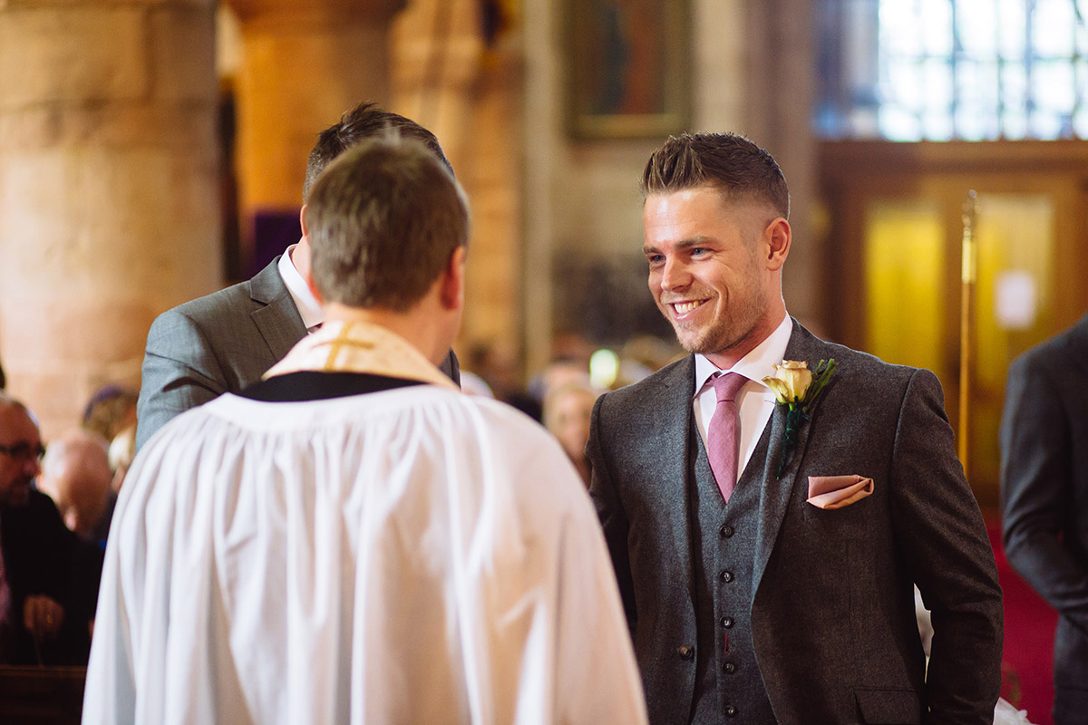 Solihull Church Wedding Groom