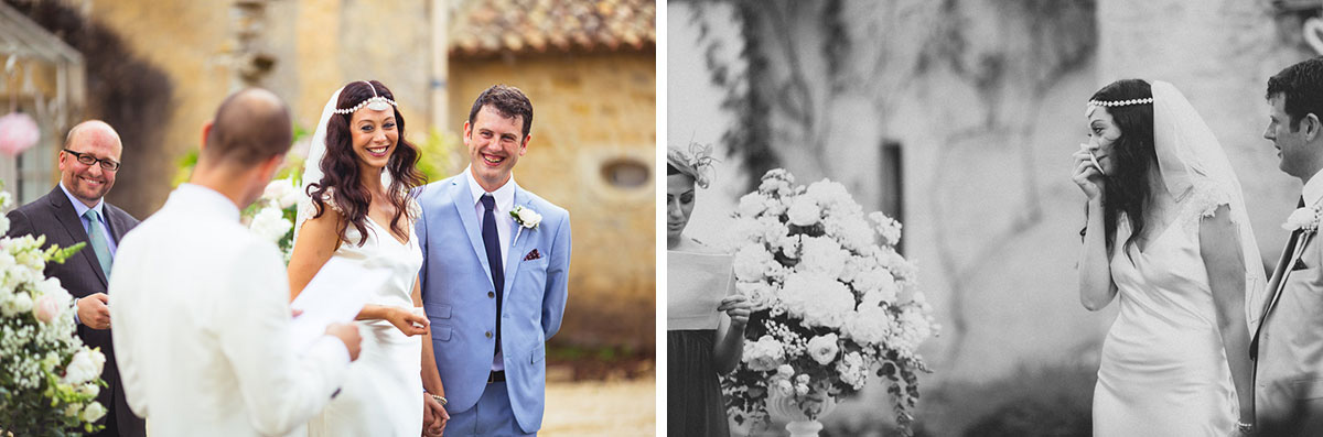 outdoor wedding ceremony dordogne france