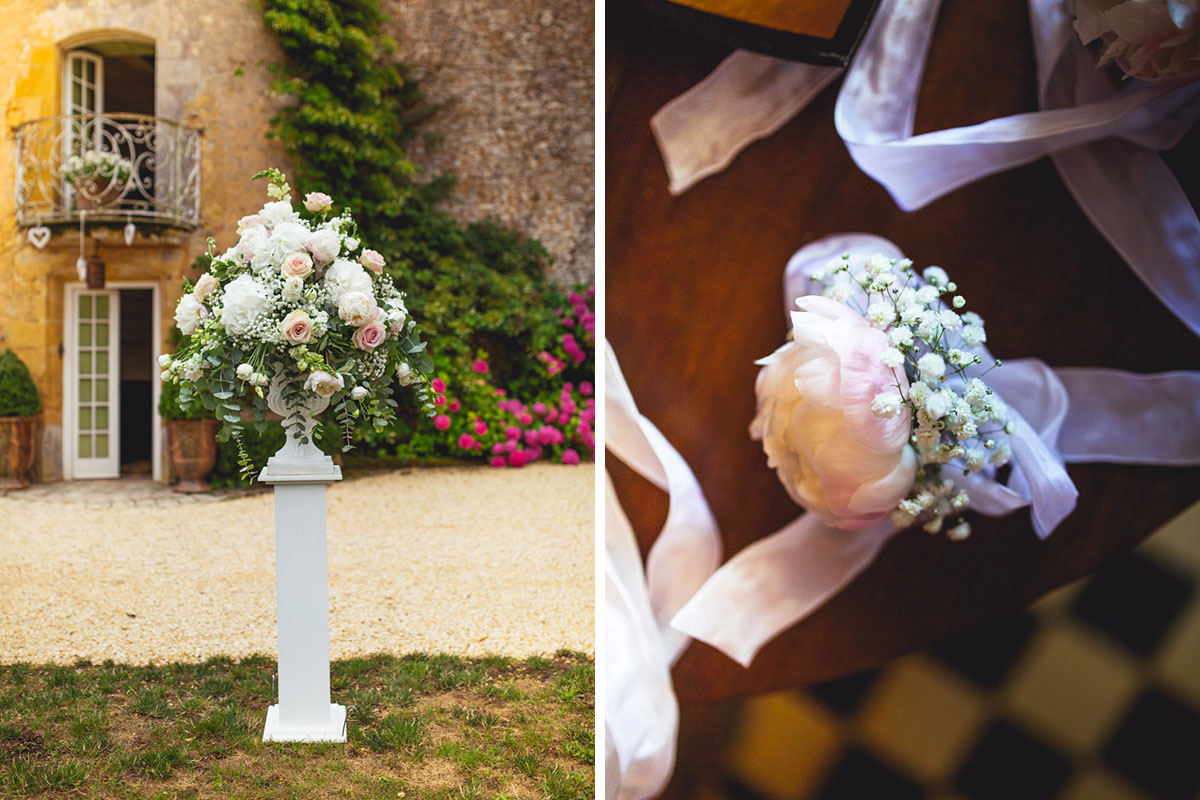 french chateau wedding flowers