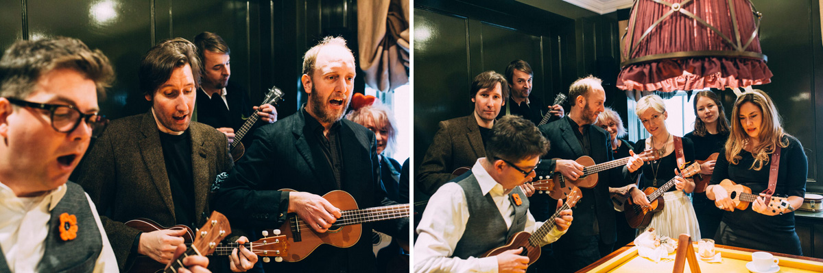 wedding ukulele players london