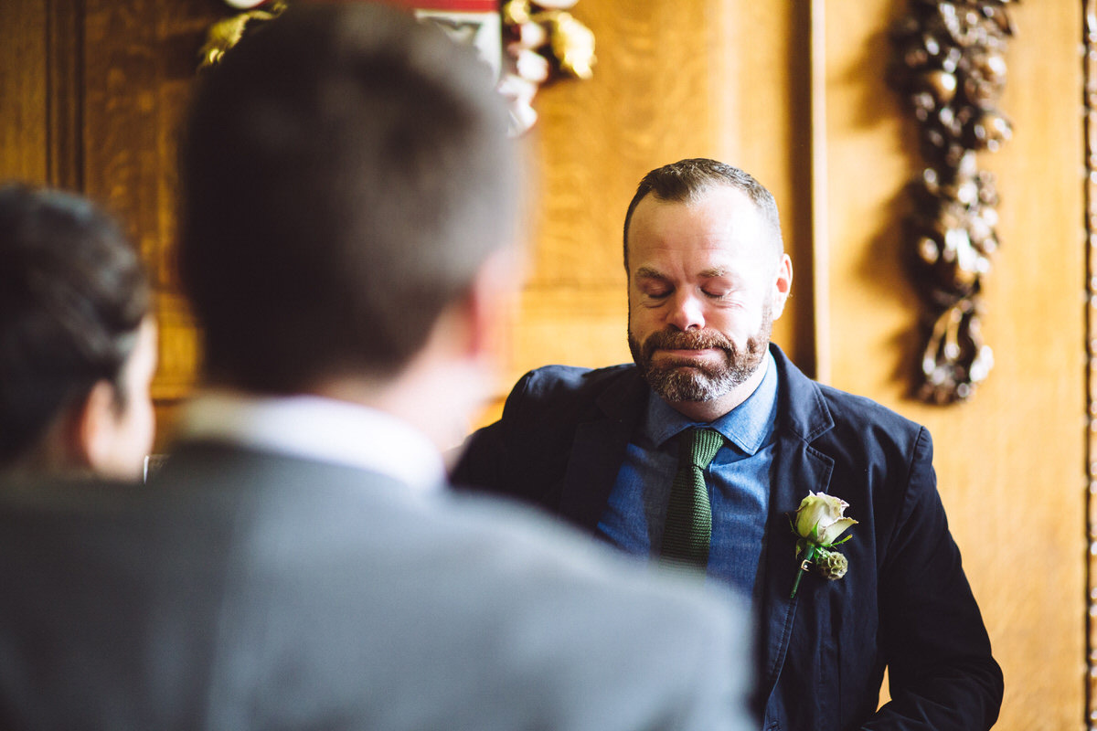 emotion and happiness wedding ceremony islington london