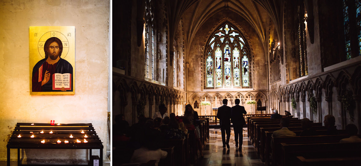 creative wedding photographer st albans cathedral