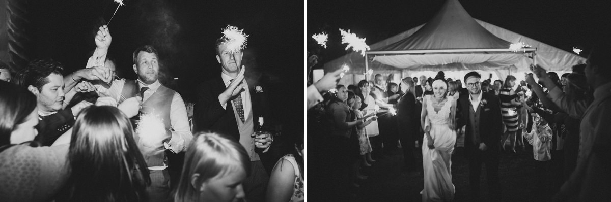 wedding sparklers black and white