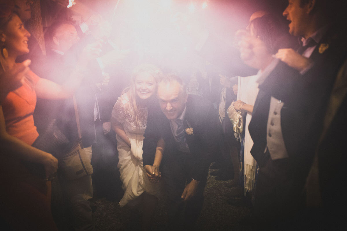 wedding sparkler run