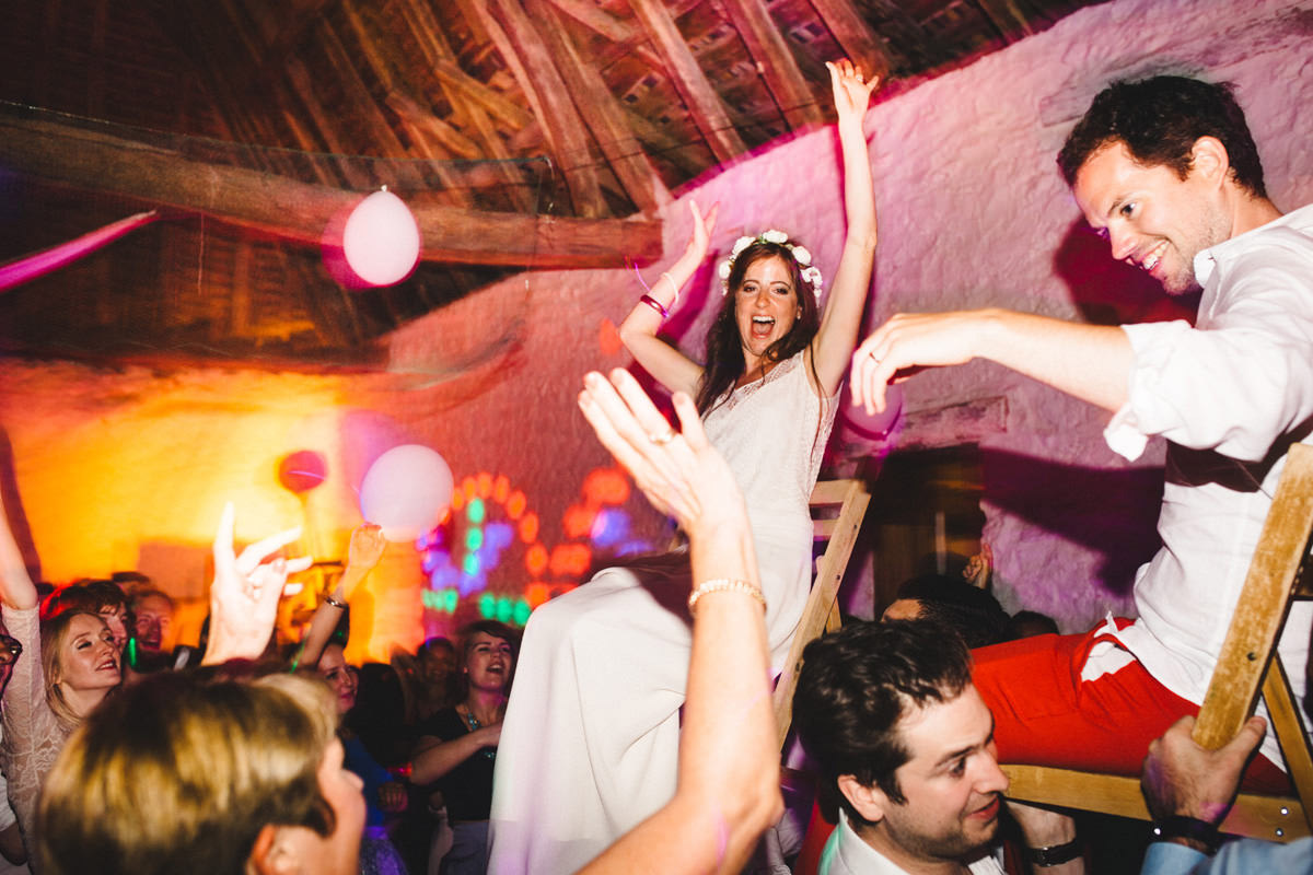 bride and groom dancefloor party